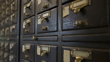 Card catalog of records